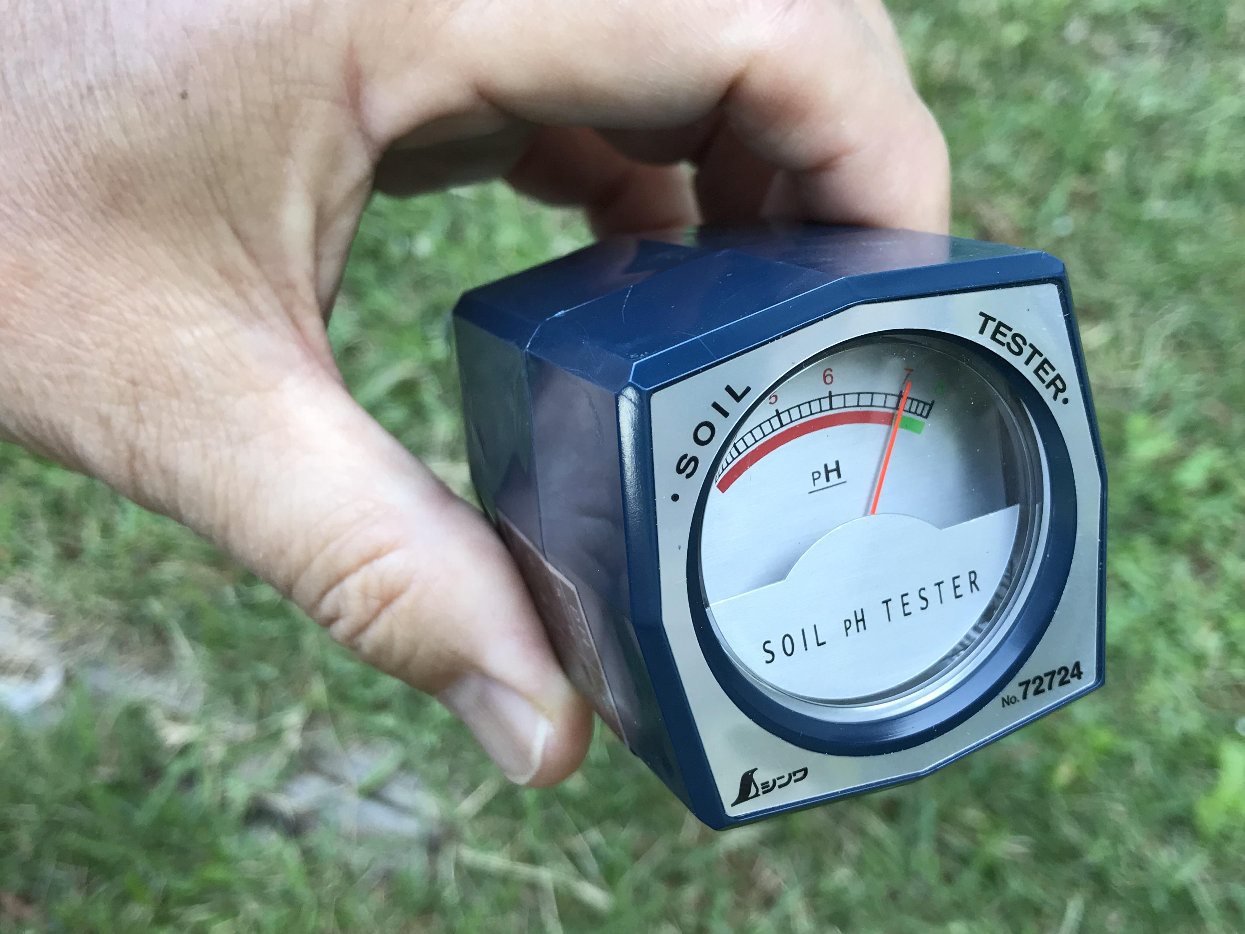 土壌のpHを測定してみた 〜シンワの土壌酸度計を購入して〜